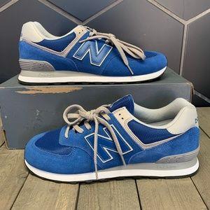 Mens New Balance Classic 574 Blue Grey Shoes Sz 12